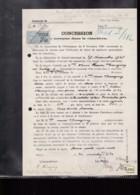 1 Timbre  De  Dimension  3,60 F  Taxe  Fiscal  Sur Acte Terrain  Concession Cimetière Riedisheim Année 1930 - Fiscali