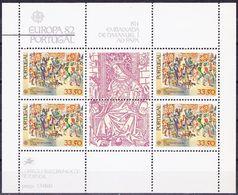 20-111 Portugal 1982 Europa Mi MS 35 MNH ** - Europa-CEPT