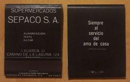 MADRID. SUPERMERCADOS SEPACO. CAJA DE CERILLAS VINTAGE. - Scatole Di Fiammiferi