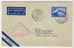 Allemagne // Deutschland // Poste Aérienne // Vol Zeppelin Pour Le Caire (Egypte) Le 10.4.1931 - Sin Clasificación