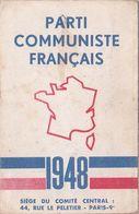 Parti Communiste Français   Carte D'Adhérent  1948  - Timbres + Cachet - - Zonder Classificatie