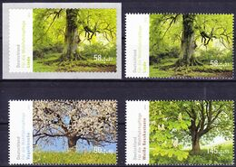 20-130 Germany 2013 Endemic Trees Complete Set Including Self-adhesive Stamp Mi 2980-82, 2986 MNH ** - Trees