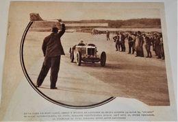 Antigua Fotografía, Pista De Monthlery - Extraída De Revista 1933 - 13x17cm - Sonstige