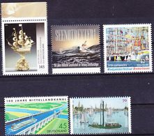 20-138 Germany 2005-2016 Lot Ships And Seafare (exclusively Single Stamp Issues) MNH ** - Maritime