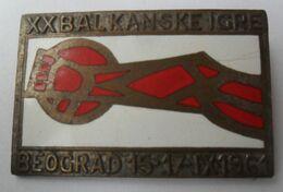 XX BALKANSKE IGRE BEOGRAD 1961, XX BALKAN GAMES BELGRADE 1961  PINS BADGES P4/5 - Pin's