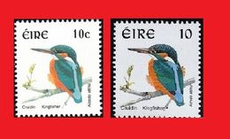 Ireland Irlande 1997 & 2002 Kingfisher Bird / Oiseau Martin Pêcheur - Vögel