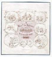 1 Carte Porcelaine  Café Français à L'Occasion De La Nouvelle Année  1873  Litho.    S. Mayer  Anvers - Ansichtskarten