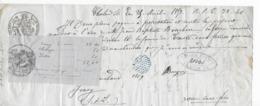 Mandat à Ordre De 1853 Papier Timbré Proportionnel (effets De Commerce) De 100 F Et Au Dessous à 5 C. - Revenue Stamps