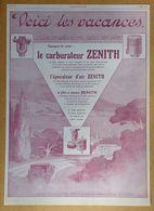 1927 Carburateur Zénith D'après Luc Barbier - Publicité - Publicidad