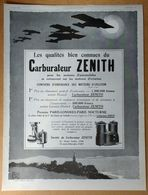 1926 Carburateur Zénith D'après Ato - Latil Camions Tracteurs... - Rigaud Paris Un Air Embaumé (Parfum) - Publicité - Publicidad