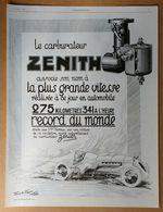 1926 Carburateur Zénith D'après Jean A. Josse - Publicité - Publicidad