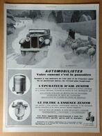 1927 Zénith D'après Luc Barbier L'épurateur D'air, Le Filtre à Essence (Carburateur) - - Publicité - Publicidad