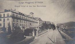 STRESA-VERBANO CUSIO OSSOLA-GRAND HOTEL BORROMES-CARTOLINA VERA FOTOGRAFIA NON VIAGGIATA-DATATA AL RETRO 5-3-1908 - Verbania