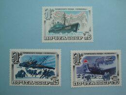 Bateaux 1984  Russie URSS Yv 5092/4 ** MNH Michel 5376/8  Scott 5246/8  SG  5429/1  Ships Arctique - Unclassified
