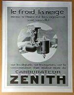 """1928 Carburateur Zénith - Biscottes Delft - Encre Sèche, Stylo """"Everdry"""" - Publicité - Publicidad"""
