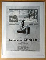 1928 Carburateur Zénith D'après Luc Barbier - Chaussures Unic Par Hemjic (Art Déco) - Publicité - Publicidad