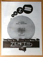 1929 Carburateur Zénith D'après E. Maurus - Innovation La Plus Belle Malle Du Monde - Publicité - Publicidad