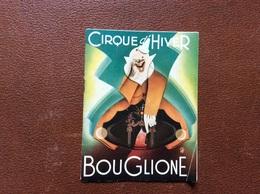 PROGRAMME CIRQUE  CIRQUE BOUGLIONE  Cirque D'Hiver  SAISON 1952-1953   @ - Programmi