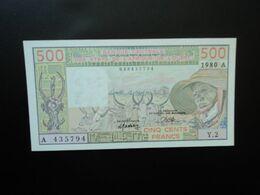 CÔTE D'IVOIRE * : ÉTAT DE L'AFRIQUE DE L'OUEST :  500 FRANCS   1980 Alphabet 2    P 105Ab     SUP+ - Ivoorkust