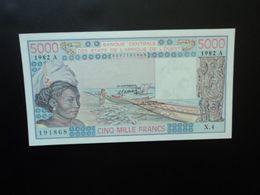 CÔTE D'IVOIRE * : ÉTAT DE L'AFRIQUE DE L'OUEST :  5000 FRANCS   1982 Alphabet X.4     P 108Ai     Presque NEUF - Ivoorkust