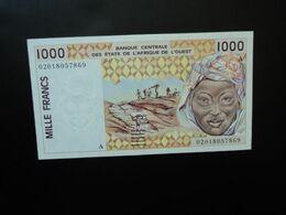CÔTE D'IVOIRE * : ÉTAT DE L'AFRIQUE DE L'OUEST :  1000 FRANCS   (20)02  P 111Ak      SUP+ à Presque SPL - Ivoorkust