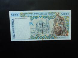 CÔTE D'IVOIRE * : ÉTAT DE L'AFRIQUE DE L'OUEST :  5000 FRANCS   (20)03   P 113Am      Presque NEUF - Ivoorkust
