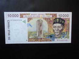 CÔTE D'IVOIRE * : ÉTAT DE L'AFRIQUE DE L'OUEST :  10 000 FRANCS   (19)97   P 114Ac      Presque SPL à SPL - Ivoorkust