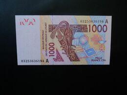 CÔTE D'IVOIRE * : ÉTAT DE L'AFRIQUE DE L'OUEST :  1000 FRANCS   (20)03 / 2003   P 115Aa     NEUF - Ivoorkust