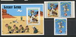 France 2003 Cartoons, Stamp Day, Lucky Luke + MS - France