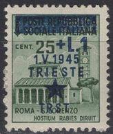 Yugoslavia - Istria And Slovenian Coast - Trieste - 25 C.+ 1 L. - Mi 17 - 1945 - Yugoslavia