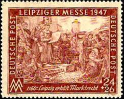 Allemagne Interzone Poste N** Yv:28A Mi:941B Leipziger Messe Leipzig Erhält Marktrecht - American,British And Russian Zone