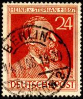 Allemagne Interzone Poste Obl Yv:53 Mi:963 Heinrich Von Stephan (TB Cachet à Date) Berlin 14-1-48 - American,British And Russian Zone