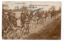 Compagnie Des Chasseurs Cyclistes  - Animée - 1914 (N38) - Militaria