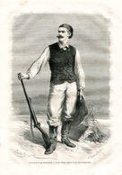 Antique Engraving 1874 Georg August Schweinfurth Baltic German Botanist And Ethnologist Who Explored East Central Africa - Estampes & Gravures