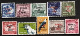 NAURU, 1968 PICTORIALS O/PRINTS 10 MNH - Nauru