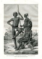 Antique Engraving 1874 Africa Sudan People Tribe Madi Leader Warrior Weapon Spear Ethnography - Estampes & Gravures