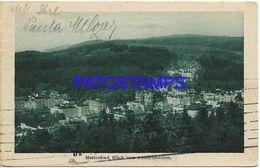 139722 CZECH REPUBLIC MARIENBAD VIEW PARTIAL CIRCULATED TO ARGENTINA POSTAL POSTCARD - Postales