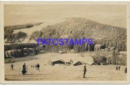 139726 CZECH REPUBLIC SUMAVA BOHMERWALD VIEW PARTIAL COSTUMES SKI BREAK POSTAL POSTCARD - Postales