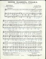 """Chantons La Bière Et L'amour"" Beer Barrel Polka - Polka-marche - Paroles Françaises Bernard Vimont & Henry Lemarchand - Música & Instrumentos"