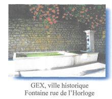 GEX AIN - VILLE HISTORIQUE, LA FONTAINE RUE DE L HORLOGE - PAP ENTIER POSTAL, VOIR LES SCANNERS - Altri