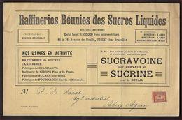 RECLAME / Affiche Van RAFFINERIES REUNIES DES SUCRES LIQUIDES Met Nr. 108 TYPO Nr. 37B ; Zie 3 Scans ! LOT 204/3 - Vorfrankiert