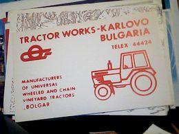 QSL CARD   RADIO AMATORIALE BULGARIA  RADIO TRACTOR WORKS KARLOVO   V1987 HQ10070 - Radio Amateur
