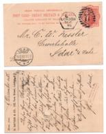 Großbritannien Ganzsache CP 28 Victoria London Nach Idar/Nahe 1895; Postal Stationery Great Britain And Ireland - Used Stamps