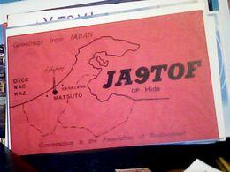 QSL CARD   RADIO AMATORIALE JAPAN MATSUTO    V1987 HQ10073 - Radio Amateur