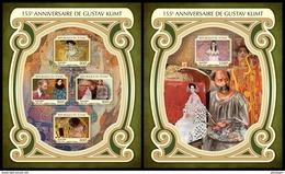 CHAD 2017 - Gustav Klimt - YT CV=39 €, 1891-4 + BF180 - Modernos