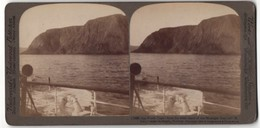 Stereo-Fotografie Underwood & Underwood Publishers, New York, Ansicht North Cape From The West-Land - Photos Stéréoscopiques