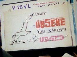 QSL CARD   RADIO AMATORIALE RUSSIA  MOSCA CCCP USSR MOSCOW   V1986 HQ10077 - Radio Amateur