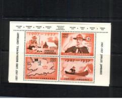 (stamps 7/8/2020) Scouts (cinderella Souvenir Mini-sheet) 1957 Jubilee Jamboree - Scouting