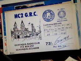 QSL CARD   RADIO AMATORIALE EQUADOR GUAYAQUIL V1988 HQ10081 - Radio Amateur