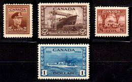 B311-Canada 1943-48 (++) MNH - Senza Difetti Occulti - - 1937-1952 Règne De George VI